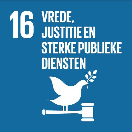 SDG 16 Vrede, justitie en sterke publieke diensten